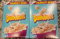 New General Mills Dunkaroos Cereal  2 Family Size Boxes Limited Edition