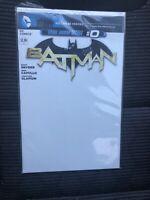 BATMAN #0 DC Sketch BLANK Comic Book Variant NEW 52 Scott Snyder NM Beyond 2011