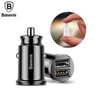BASEUS Grain Mini Dual USB Smart Car Charger 3.1A For Mobile Phone Tablet GPS