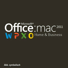 Microsoft Office for Mac 2011 Home & Business MAC PKC / W6F-00202 / MS UK