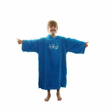 15d132b972a19 Tiki Kids Junior Hooded Towelling Changing Change Robe Beach Swim Poncho  Blue