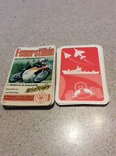 RARE VINTAGE 70s FIRE CHAIR MOTOR BIKES GERMAN  TOP TRUMPS RED BACKS
