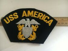 "US NAVY CAP PATCH ""USS AMERICA  """