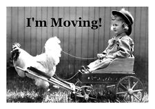 MOVING ANNOUNCEMENTS -Set of 30- Change of address postcards 273CAS I'm Moving!