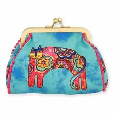 Laurel Burch Coin Purse Bohemian Whiskers Small Pouch Cat Turquoise