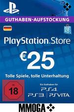 25 EURO PlayStation Guthaben Key - 25€ Eur PSN Network Code PS3 PS4 PS Vita - DE