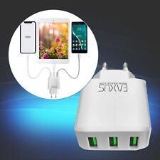 Universal 3x USB Ladegerät Fast Smart-Netzteil 5V 3A 4A Smartphone Tablets Eaxus
