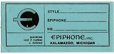 1960s Epiphone / Gibson interior label - Casino / Riviera etc.