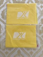 2 Moving Free Resistance Bands Yellow is light resistance beginner Free shipping