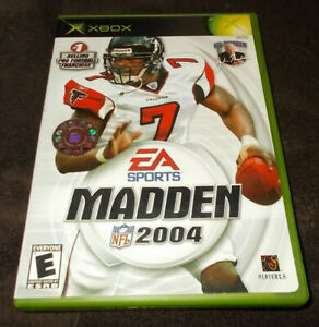XBOX EA Sports Maddan 2004 NFL Football Video Game - Used - Excellent Condition!