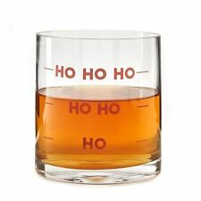 Ho ho ho 16oz double shot old-fashioned glass tumbler pour noël