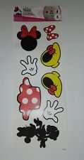8 RARE  Disney MINNIE MOUSE Wall Decals Stickers Scrapbook 1 Sheet BRAND NEW USA
