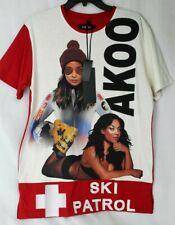 "Akoo Brand ""SKI PATROL"" S/S Knit in Whisper White MSRP $62.50 NWT COOL! - Med"