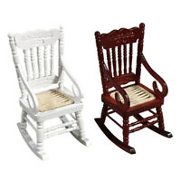 Miniature Rocking Chair for 1:12 Dollhouse Wooden Furniture Model Set  - UK