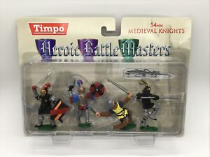 Timpo Heroic Battle Masters Medieval Knights Set In 54mm Scale New