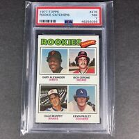 1977 Topps #476 Rookie Catchers w/ Dale Murphy Atlanta Braves RC PSA 7 NM