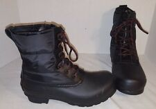 NEW WOMEN'S HUNTER BLACK QUILTED LACE UP BOOTS RAIN SNOW US 7 EUR 38 UK 5