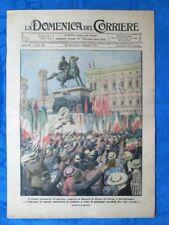 La Domenica del Corriere 6 ottobre 1918 WW1 Milano - Parigi Alleati - M. Veduti