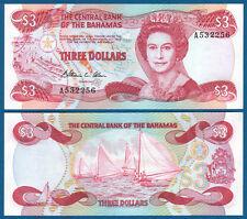 BAHAMAS 3 Dollars 1974 (1984)  UNC  P. 44