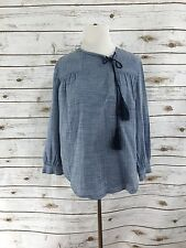 Derek Lam 10 Crosby chambray Womens Size 6 tassel side snap button