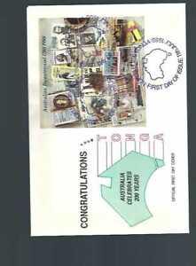 CRICKET STAMPS - Niuafo'ou 1988.Australia Bicentenary 12 v on FDC