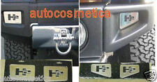 4 Piastre in acciaio cromo  angolari paraurto ateriore e posteriore HUMMER H2