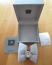 NIB Swiss Army Officer's Watch (SMALL) Two Tone 24204 Leather, New Battery RARE