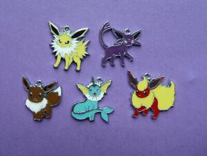 POKEMON Poke Metal Charms Pendant Party Bags filler Jewellery choose quantity