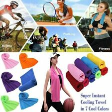Instant Cooling Towel ICE Cold Golf Cycling Jogging Gym Sports Outdoor Summer UK