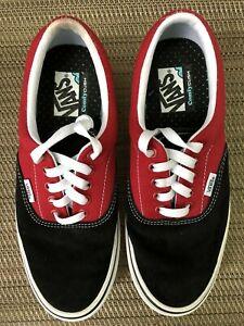Unisex Vans Skate Shoes Sneakers Red Black Men's 7.5 Women's 9 NEW 500383