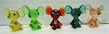 "5 FENTON 3"" GLASS MICE, TOPO GIGIO STYLE,  ALL PERFECT"