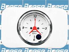 37 38 Chevy Car Billet Aluminum Clock Insert w/ Auto Meter Arctic White Clock