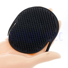 Silicone Black Shampoo Scalp Shower Hairbrushes Massager Brush Comb DH