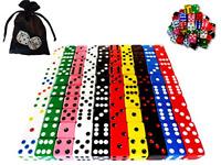 100Pcs Dice Set Translucent Tenzi Bunco Math Farkle Yahtzee Game Assorted Colors