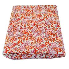 Indian Hand Block Printed Cotton Sewing Voile Dressmaking Fabric Running 5 Yard