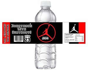 10 MICHAEL JORDAN BASKETBALL BIRTHDAY PARTY FAVORS WATER BOTTLE LABELS WRAPPERS