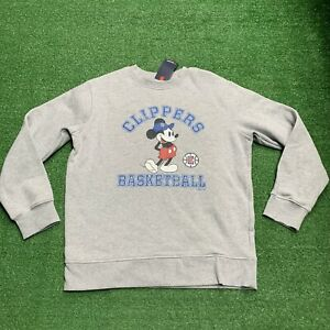 NBA Los Angeles Clippers Crewneck Sweatshirt Mickey Mouse Size XL NWT