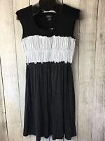 New Spense Women's Sleeveless Dress Black White Polka Dot Size M
