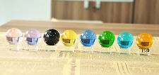 40mm 8Pcs New Crystal Glass Ball Clear Stand Square Base FengShui Decorat Gifts