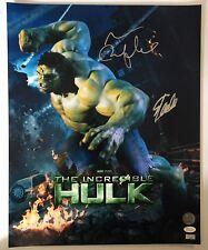Stan Lee Mark Ruffalo Signed Autographed 16x20 Photo JSA CELEBRITY AUTHENTICS