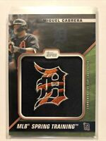 2021 Topps Series 1 Miguel Cabrera Spring Training Cap Logo Patch #/299