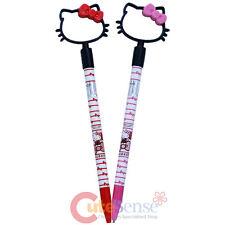 Sanrio Hello Kitty Ball Point Pen Kitty Face Shape Top Click Pen 2pc Set