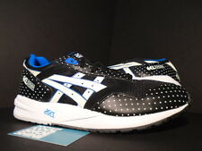2014 ASICS GEL SAGA III BLACK GLOW IN THE DARK WHITE BLUE GID H4A0N-9007 NEW 9.5