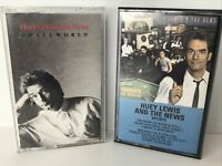 Huey Lewis And The News SPORTS and SMALL WORLD Cassette Tapes LOT of 2 Chrysalis