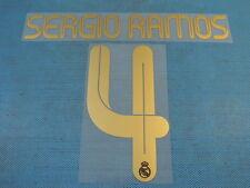 Spanish La Liga 2011-2012 Real Madrid #4 Sergio Ramos Homekit NameSet Printing