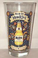 Modelo Cerveza Glass Dia De Los Muertos Especial Sugar Skull Party Beer Pint