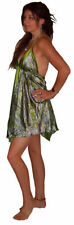 Vestidos de mujer de color principal verde de seda