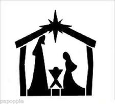 Stencil Christmas Bethlehem Manger Star Mary Joseph Baby Jesus