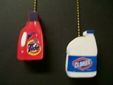 (2) Tide Laundry Soap Clorox Ceiling Fan Pull Pulls