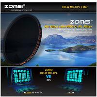 ZOMEI 77mm U-Slim HD Circular Polarizer CPL Filter for Canon Nikon DSLR Camera